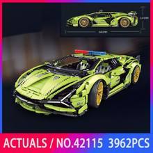 Series Lamborghinis SIAN FKP37 MOC Police Car Super Racing Model Building Blocks Educational Children Toys Gifts