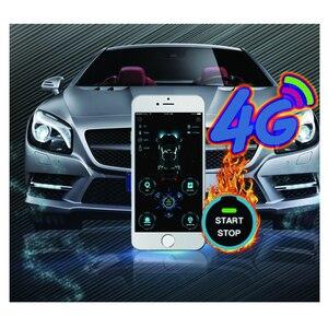 Image 3 - Cardot yeni 4g Gps Gsm akıllı Pke anahtarsız giriş uzaktan marş Start Stop motor araba alarmı