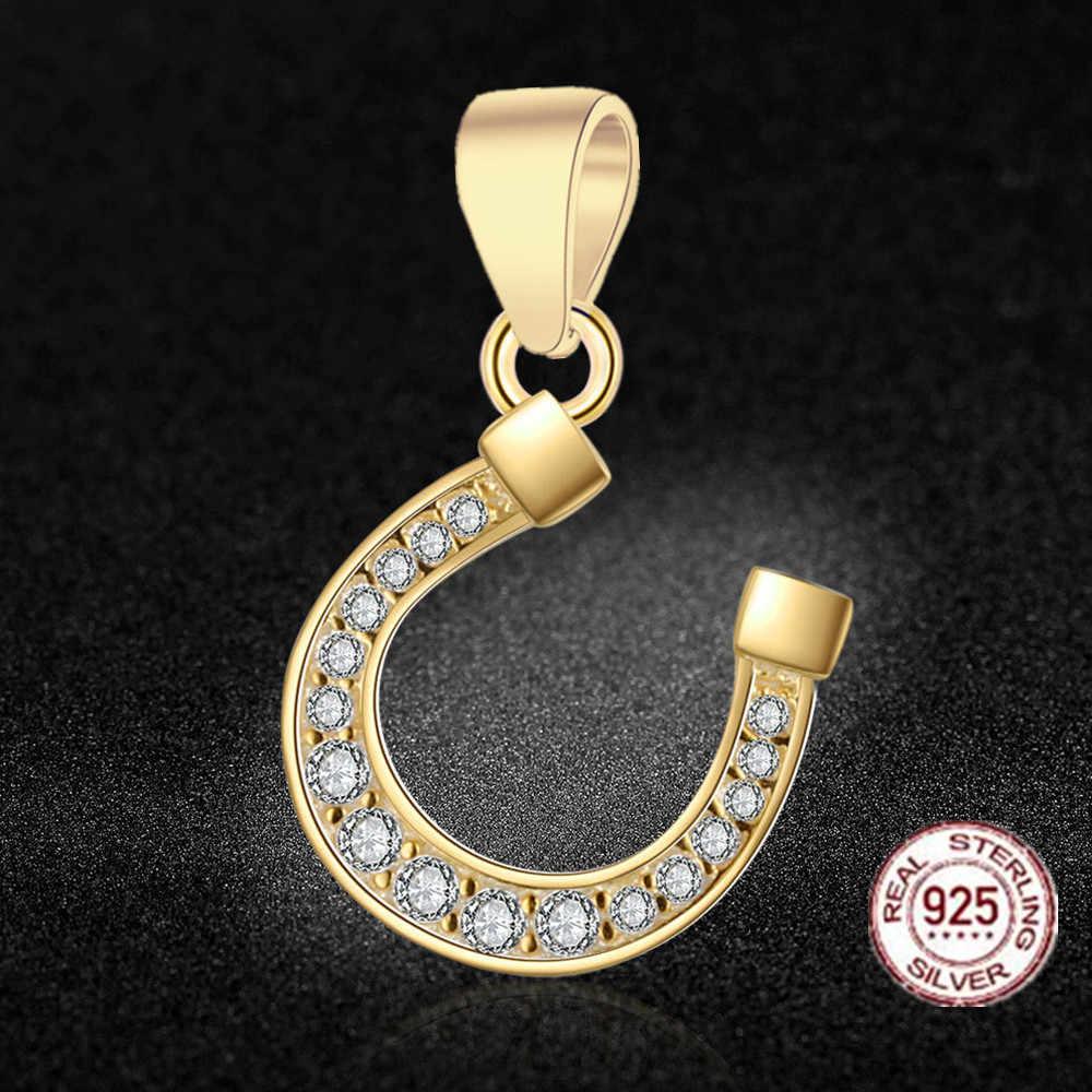 HMSFELY 925 Plata de ley en forma de U colgante DIY pulsera accesorios Horseshoe colgantes para regalo dijes collar fabricación de joyas