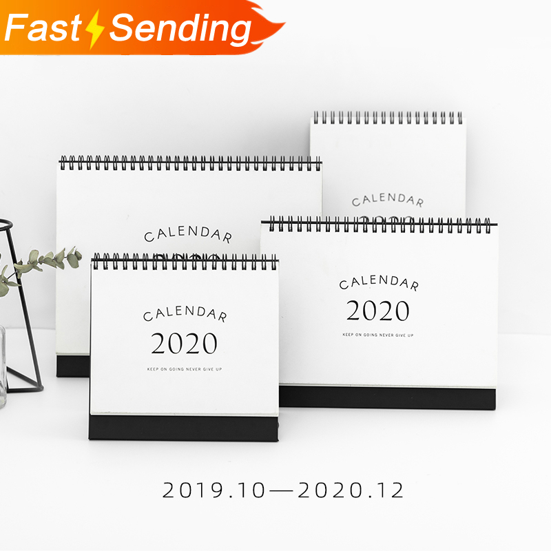 JIANWU 1pc  Simple Style 2019 2020 Calendars Table Desk Calendar Office Work Learning Schedule Cute Periodic Planner Stationery