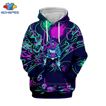 League Of Legends 3d Print Sexy Akali Men hoodies Women Fashion Hoodie LOL Game Character Psychedelic Hoody Breathable  Pullover 2