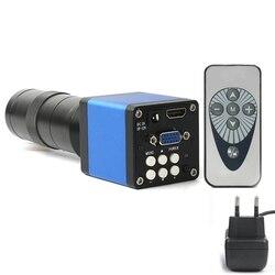 14Mp 1080P Digital Video Hdmi Micro-scope Camera +130X C Mount Lens for Pcb Soldering Repair Dual Display Output(Eu Plug)