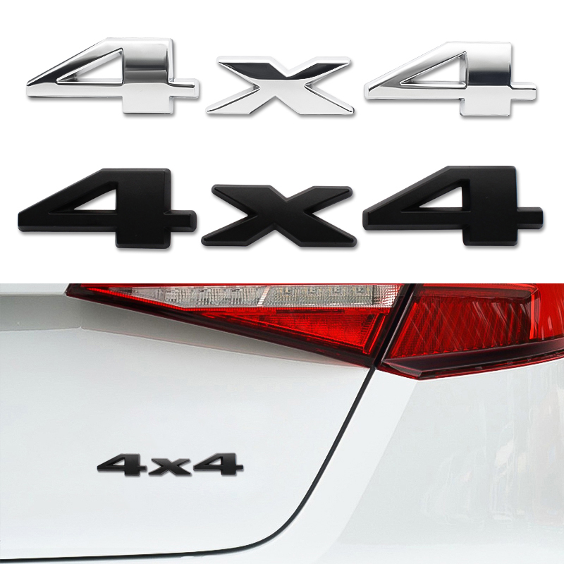 3D ABS 4X4 Four-Wheel <font><b>Drive</b></font> Car Sticker <font><b>Emblem</b></font> Badge For Jeep <font><b>BMW</b></font> Ford Nissan Audi KIA Honda Lada Chevrolet Toyota Opel Renault image