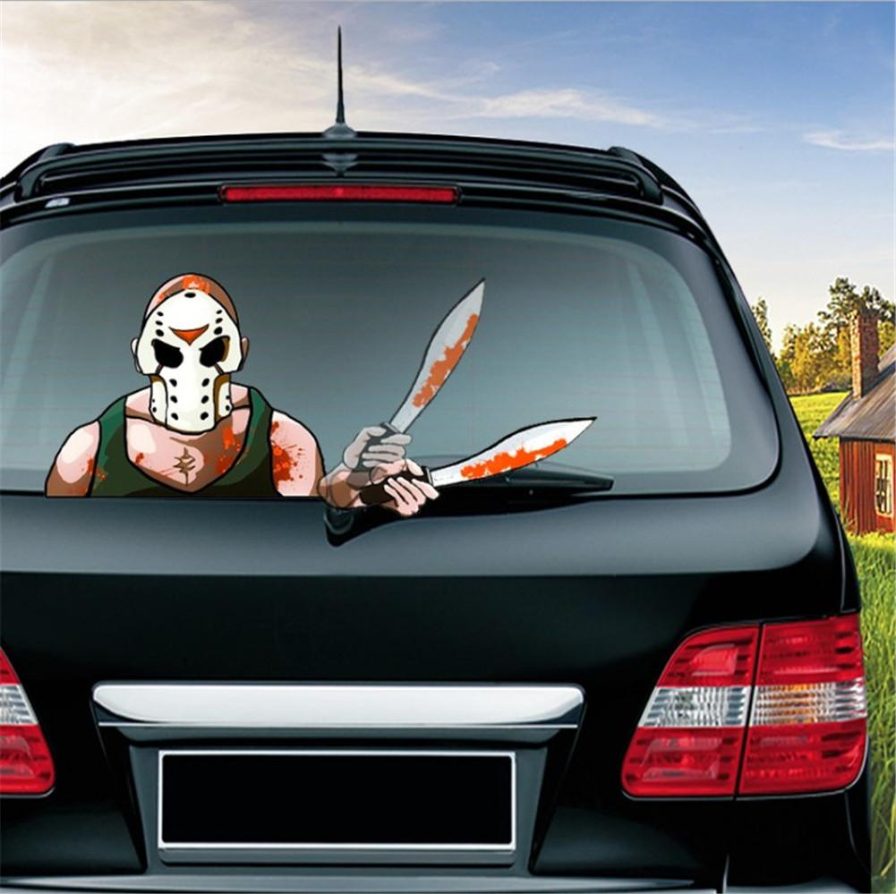 Halloween Car Rear Windshield Wiper Stickers Car Decoration 3D Stickers Animated Moving Waving Wiper Tags Car Decal Stickers in Car Stickers from Automobiles Motorcycles