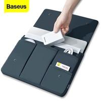 Baseusラップトップバッグケースmacbook airはproの13 14 15 15.6 16インチmacノートブックipad用プロタブレットカバーcoque funda