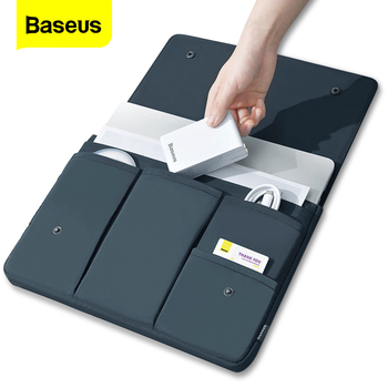 Baseus Laptop Bag Case For Macbook Air Pro 13 14 15 15.6 16 Inch Sleeve Pouch For Mac Notebook iPad Pro Tablet Cover Coque Funda