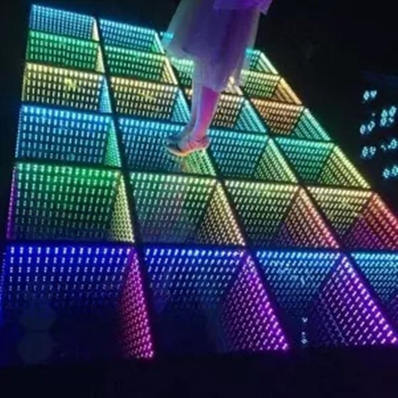 LED Tegel Gratis Levering Bar DJ Stage Interactive15x15 Pixel Dance Floor Helderder Bruiloft Digitale Interactieve LED Dance Muu