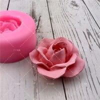 3D Blume Rose Silikon Fondant Kuchen Form Seife Gelee Mousse Schokolade Dekoration Backen Werkzeug Formen Wiederverwendbare material