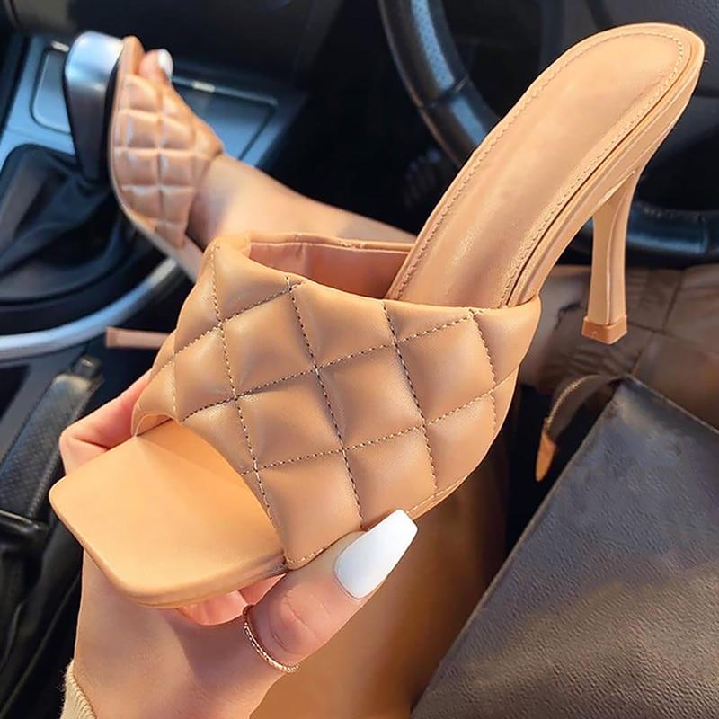 Женские летние босоножки женские шлепанцы на высоком каблуке 8 см женские туфли-лодочки пикантные женские босоножки без застежки с открыты...