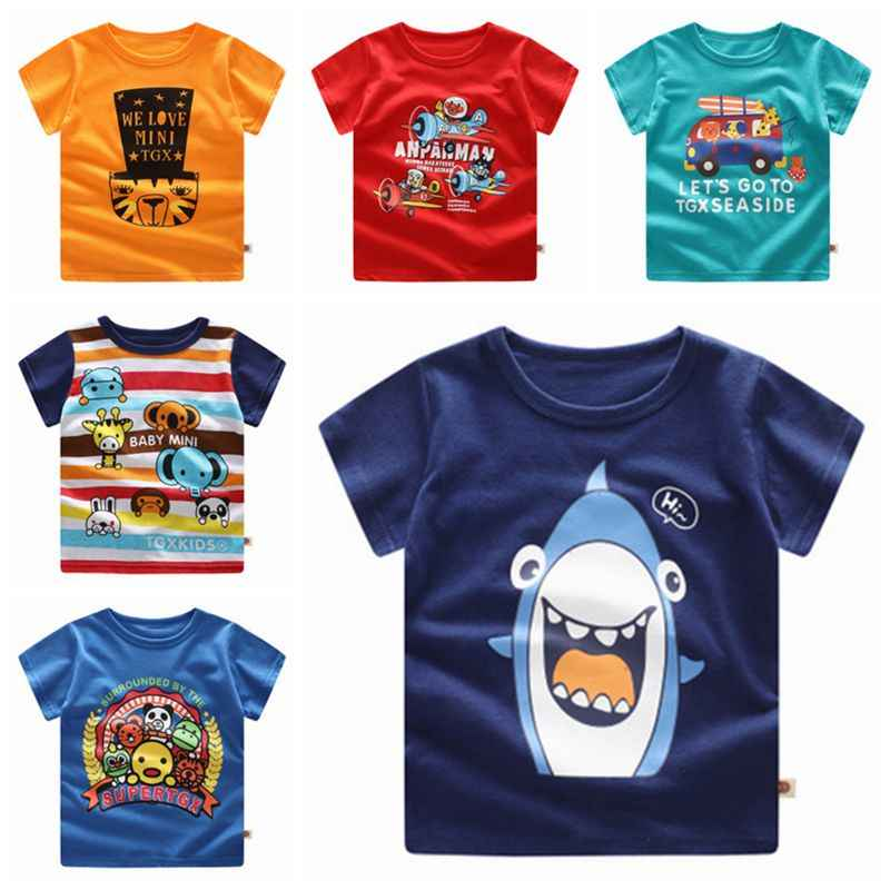 Summer New Baby Boys Girls Clothing Print Cartoon Tops Baby Kids Casual Streerwear T-shirt Toddler Cloth