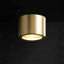 купить Modern Copper Ceiling Lights Round Led Ceiling Light Fixtures Indoor Living Room Bedroom Hotel Loft gold Kitchen Ceiling Lamp по цене 2815.62 рублей