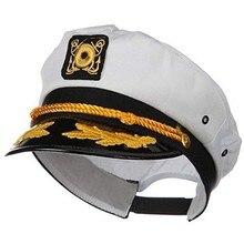 1 PC Military Captains Yacht Sailors Hat Adjustable Sea Cap Navy Accessory Vintage Marine Skipper Sailor