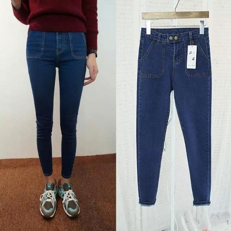 Jeseca Clearance Sales Spring Summer Thin Korean-Style Women Wear Capri-Pants Pencil Jeans Female Feet Pants Thin Leggings