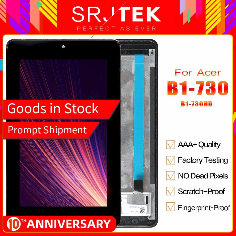 Srjtek Parts For Acer Iconia One 7 B1-730HD B1-730 B1 730HD 730 LCD Display Matrix Touch Screen Digitizer Assembly With Frame