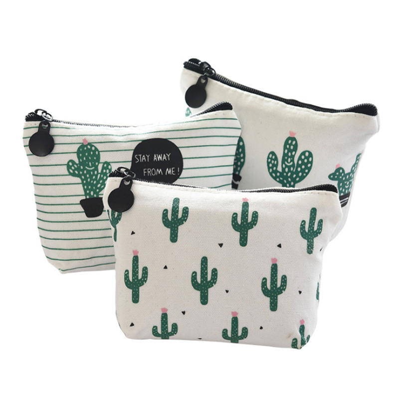 Vogvigo Cactus Coin Purses Women Wallets Small Card Holder Key Bag Money Bags for Girls Ladies Purse Kids Bag Organiser in Coin Purses from Luggage Bags