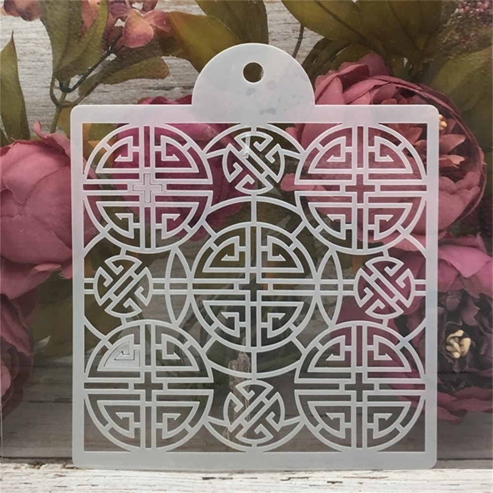 15*17.5cm Chinese Happiness DIY Craft Layering Stencils Painting Scrapbooking Stamping Embossing Album Paper Card Template