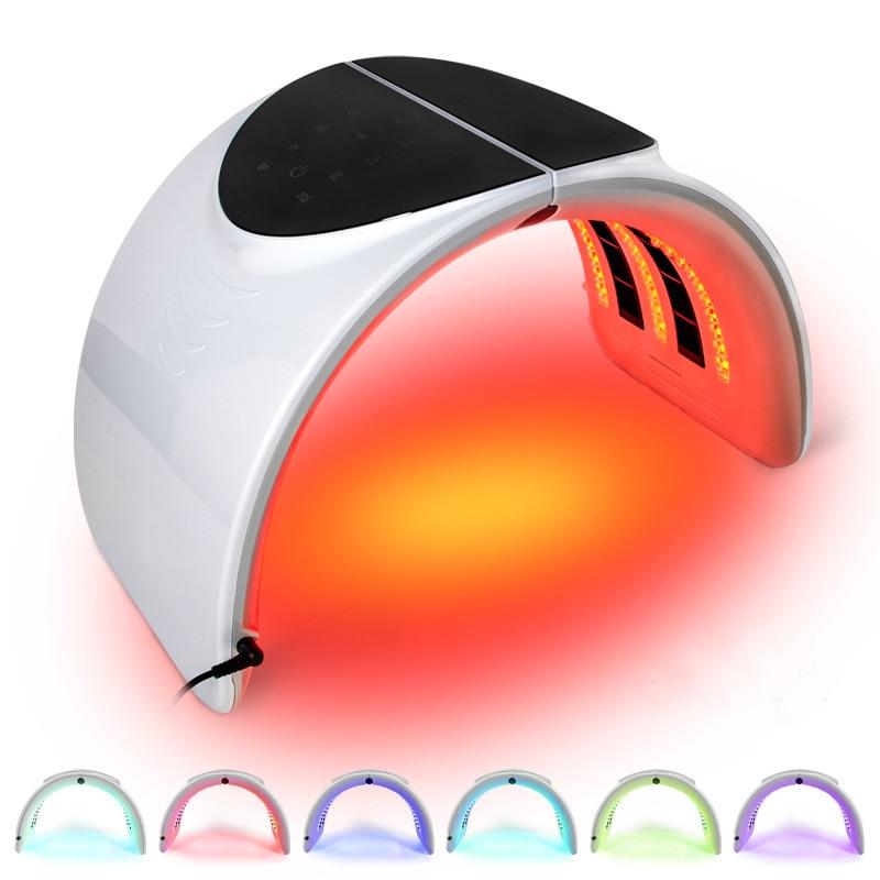Foldable Photon PDT Led Light Facial Mask Machine 7 Colors Acne Treatment Face Whitening Skin Rejuvenation Light Therapy Device