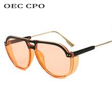 OEC CPO Oversized Punk Frame Men Goggle Sunglasses Women Luxury Shades Brand Glasses Designer Fashion Female UV400 O162