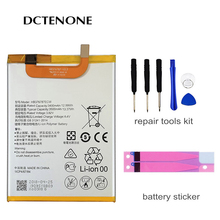 DCTENONE Real Phone Battery HB376787ECW For Huawei Honor V8 3500mAh Replacement Batteries Free Tools hua wei origianl replacement phone battery hb376787ecw for huawei honor v8 3500mah