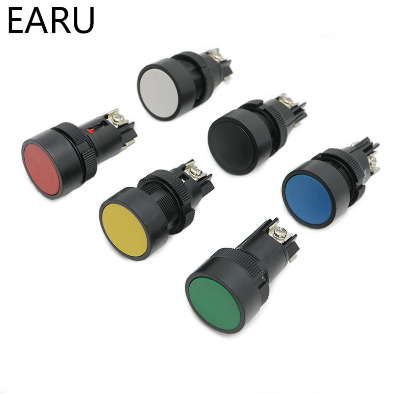 22mm Momentary Self-rest Slef-return Push Button Switch Red Green Blue Yellow Black White NO + NC XB2-EA142 XB2-EA145 XB2-EA155