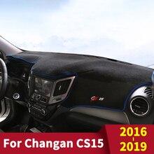 For Changan CS15  2019 Car Dashboard Cover Dash Mat Sun Shade Pad Carpets ANti-UV Accessories недорого
