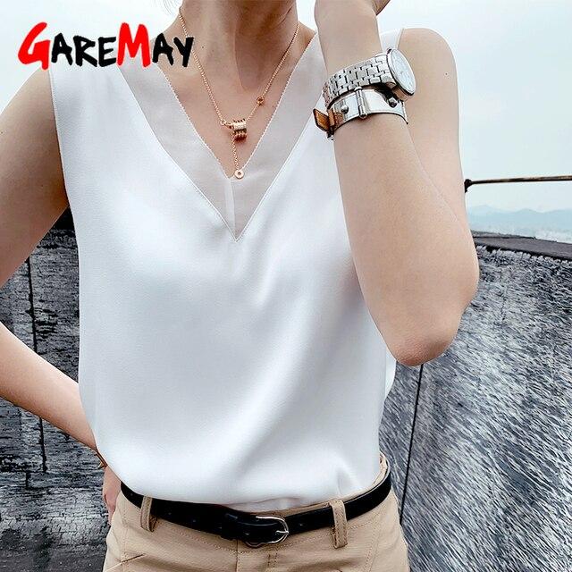 Women's Black Blouses Summer Elegant Tunic Vintage Office Plus Size Satin Silk Blouse Basic Chiffon Tops Shirt 2021 For Women 4
