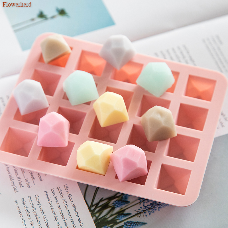 3d Twenty Holes Polygon Silicone Mold Handmade DIY Soap Making Supplies Chocolate Cake Mold Cookie Stencil Cake Decors Soap Form