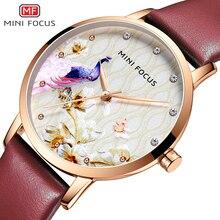 цена на MINI FOCUS Fashion Luxury Quartz Watches Women Top Brand Leather Strap Wristwatch Lady Relogios Feminino Girl Watch Clock MF0330