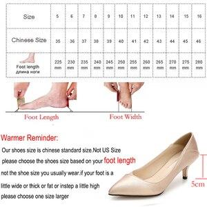 Image 5 - Maiernisi ポインテッドトゥの女性は革オフィス & キャリア女性の靴薄型ハイヒールビッグサイズ 36 45 毎日靴女性