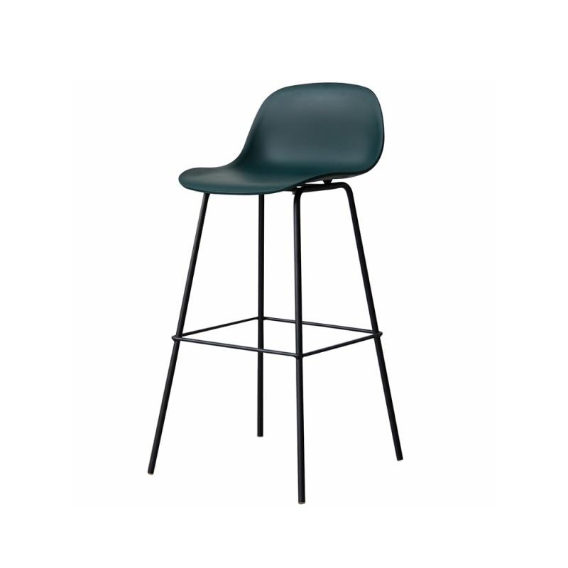 Nordic Minimalist Fashion Bar Stool Personality Creative Metal Foot Bar Chair Multifunctional Coffee Shop Front Chair