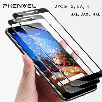 Перейти на Алиэкспресс и купить 2 упаковки Защитное стекло для Google Pixel 3 4 3A полное покрытие экрана протектор для pixel 3A 4 XL 9H Закаленное стекло пленка
