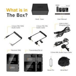 Image 3 - COMICA BoomX D2 מקצועי מיני 2.4G הדיגיטלי אלחוטי מיקרופון עם מונו/סטריאו להחלפה מצבי פלט עבור מצלמה