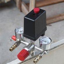 40343 регулируемое реле давления воздуха Com пресс или переключатель регулирования давления с 2 манометрами клапан управления Набор