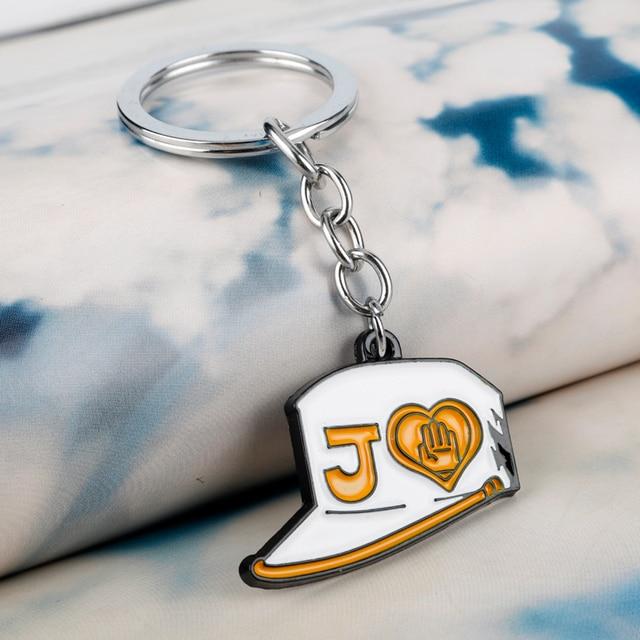JOJOs Bizarre Adventure Keychain Kujo Killer Queen Arrow Key Chains Metal Pendant Keyrings Creative Anime Trinket Car Keyholder 4