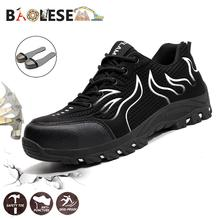 BAOLESEM Man Steel Toe Safety Work Shoes Winter men Boots Industrial Anti-smashing  Men Sneakers
