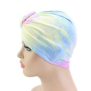 Image 3 - Donut Turban Caps For Women Chemo Hat Islamic Cotton Pleated Headscarf Hat Female Turbans Muslim Cap Bonnet Hair Loss Covers