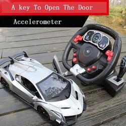 Wysokiej jakości pilot zdalnego sterowania samochodu indukcyjna KIEROWNICA akumulator zabawkowy samochód dla dzieci