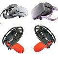 Controlador de plástico lidar com capa protetora para oculus rift s/quest fone de ouvido vr jogo de escudo à prova de choque. Anel de proteção. Anti-imp
