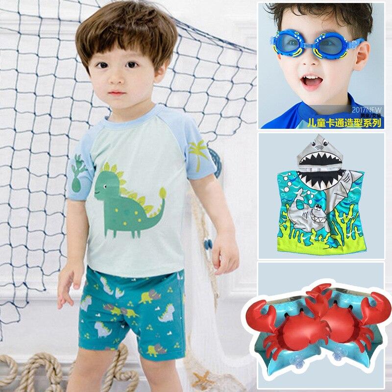 South Korea Dinosaur Bathing Suit BOY'S Children Cute Baby 1-3 Years Old Small CHILDREN'S Dinosaur Split Type Swimsuit With Swim