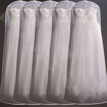 160cm Organdy Semi Transparent Wedding A-Line Dress Dustproof Cover Bride Gown Storage Bag Foldable Garment Clothes Protector(China)
