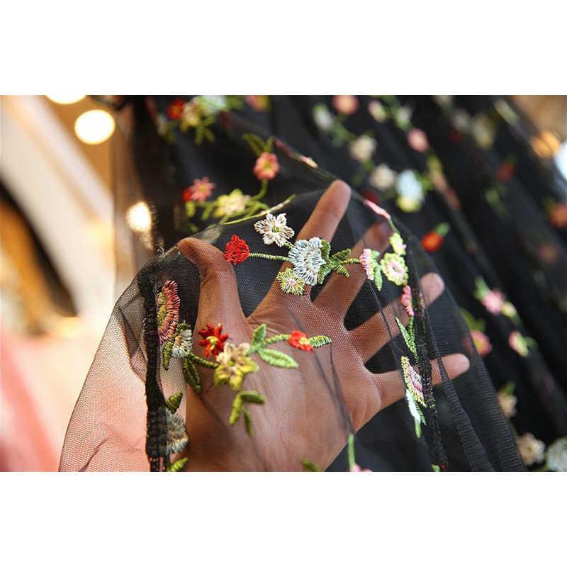 Sommer Frauen Kleid Elegante Spitze Floral Stickerei Schwarz Vintage Kleider Abend Party Vestidos Plus Größe 4XL