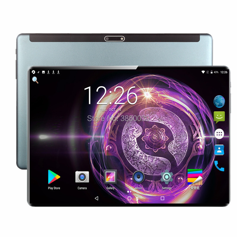2020 4G LTE 2.5D Multi-touch Glass Screen 10.1 Inch Tablet Octa Core Tablet 6GB RAM 128GB ROM Dual Cameras Android 9.0 Tablet 10