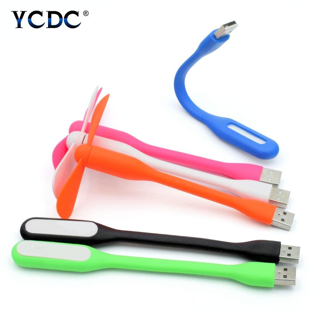 Креативный мини USB регулируемый гибкий портативный мини-вентилятор + USB световая лампа идеально подходит для внешнего аккумулятора ноутбук...