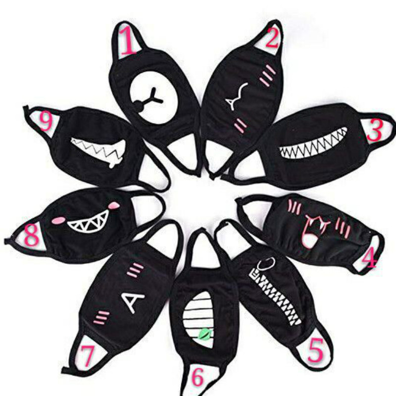 Hot Sale 1PC Cute Cartoon Face Mask Funny Teeth Pattern Antibacterial Multi Style Unisex Dust Winter Warm Mouth Mask
