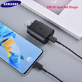 Оригинальное сверхбыстрое зарядное устройство Samsung 25 Вт AU PD, быстрое зарядное устройство с кабелем типа C для Galaxy Note 20 10 + S20Plus S20 Ultra S20FE A71 A91