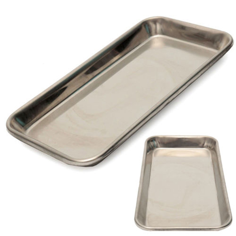 Stainless Steel Medical Surgical Tray Dental Dish Lab Instrument 22*11*2cm Storage Food Fruit Plate Dish Tableware Doctor
