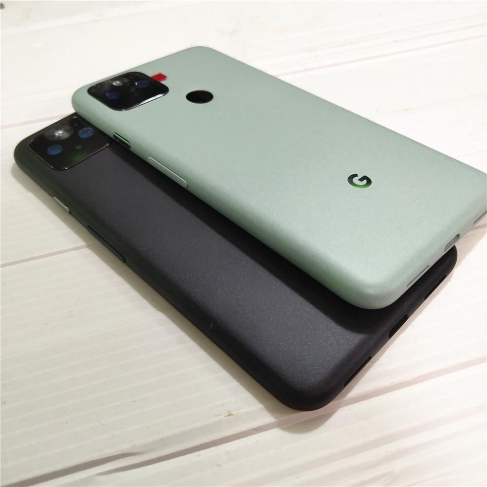 Original For Google Pixel 5 Pixel5 Back Battery Cover Door Housing Case Rear Camera Lens Glass Replace Parts