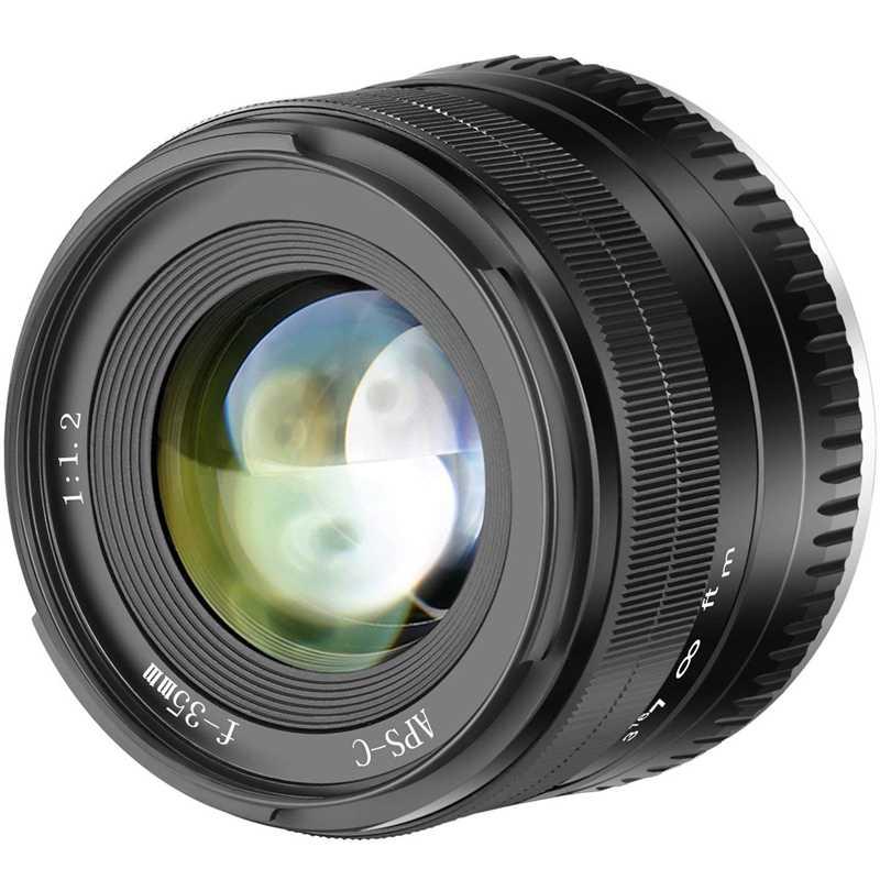 35 мм F1.2 большой группа перфорированных aps-c Алюминий объектив для цифровой фотокамеры Fuji X Крепление без зеркало X-A1 X-A10 X-A2 X-A3 X-M1 X-M2 X-T1 X-T1