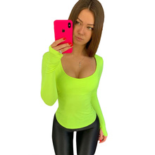 New T-shirt Women Long Sleeve Female Autumn O-neck Top Streetwear Tee Shirt Femme Solid Color Tees Clothing Hot Sale