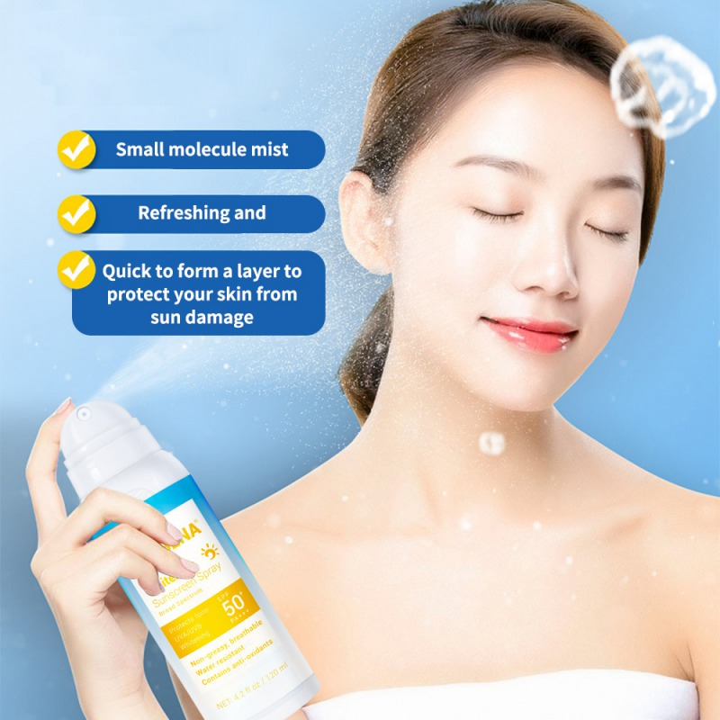 Sunblock Spray Disaar Skin Whitening Spray Brighten Sunscreen Face Body Sun Cream Facial Moisturizing Skincare